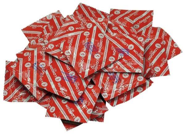 kondómy - jahodová príchuť