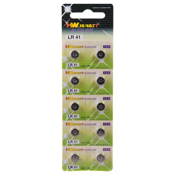 Alkalické gombíkové batérie LR41 (10ks)