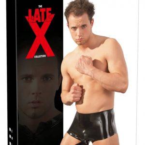 Pánske boxerky z čierneho latexu