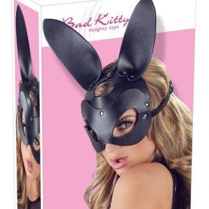 Maska s ušami zajačika (čierna)